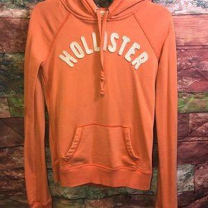 Juniors Girls M Orange Hollister pull over